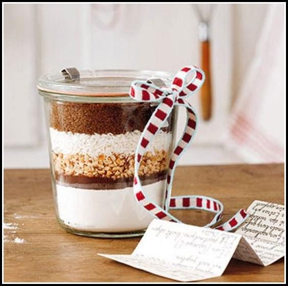 Kuchen Zutaten Im Glas Geschenk