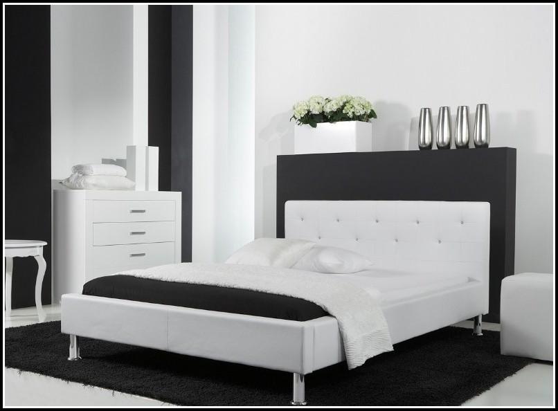 Kunstlederbett 140×200 Schwarz