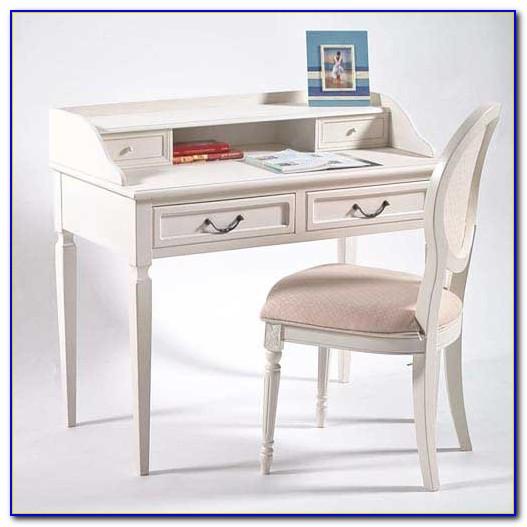 Landhaus Schreibtisch Weiß