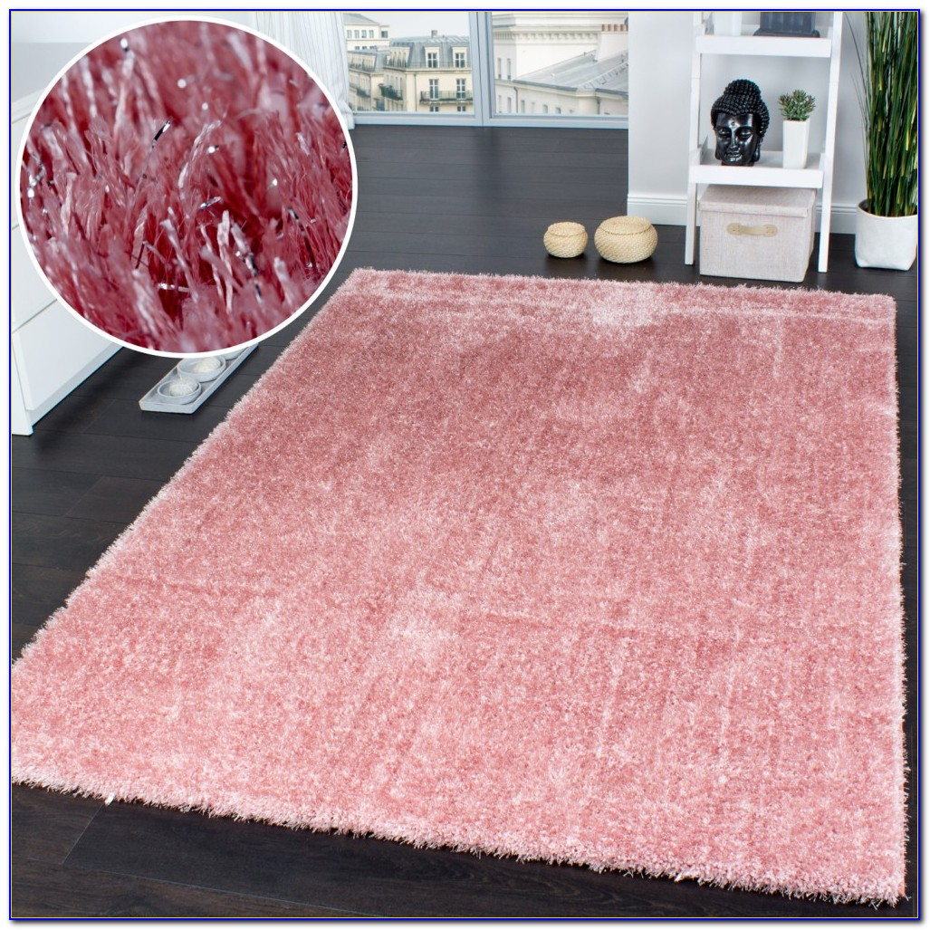 Langflor Teppich Pink