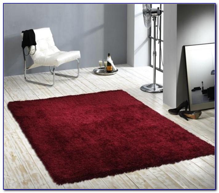 Langflor Teppich Rot