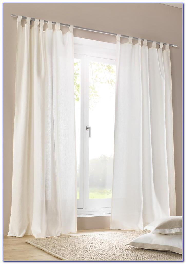 Leinen Vorhang Weiß