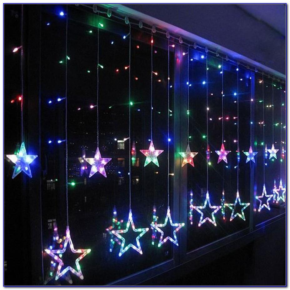 Lichterkette Vorhang Außen