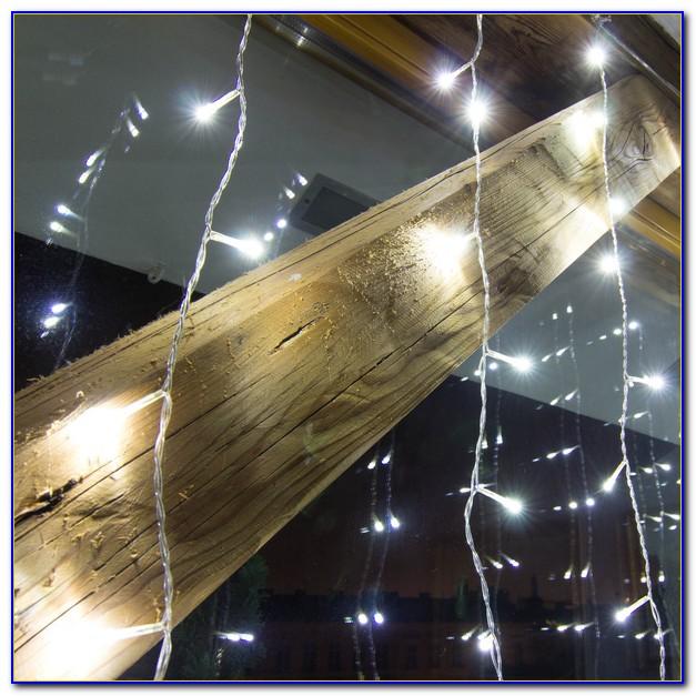 Lichterkette Vorhang Innen