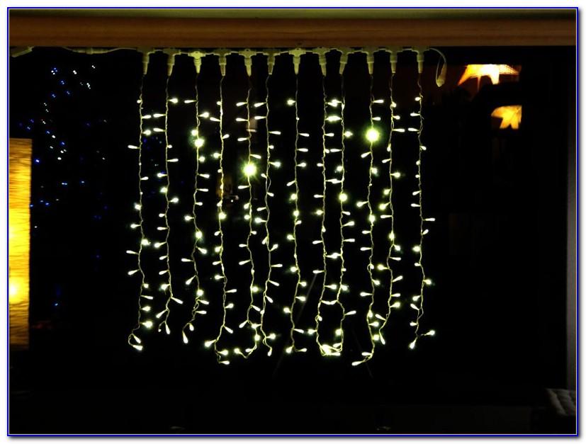 Lichterketten Vorhang Fenster