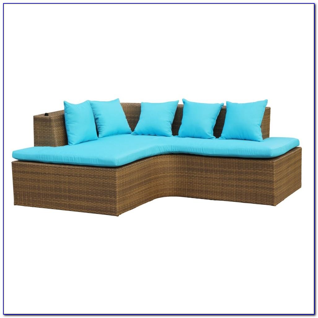 Lounge Gartenmöbel Polyrattan Grau