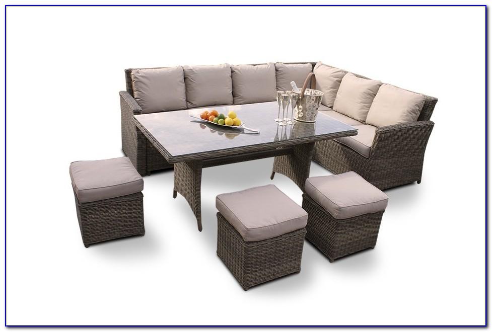 Lounge Gartenmöbel Rattan Grau