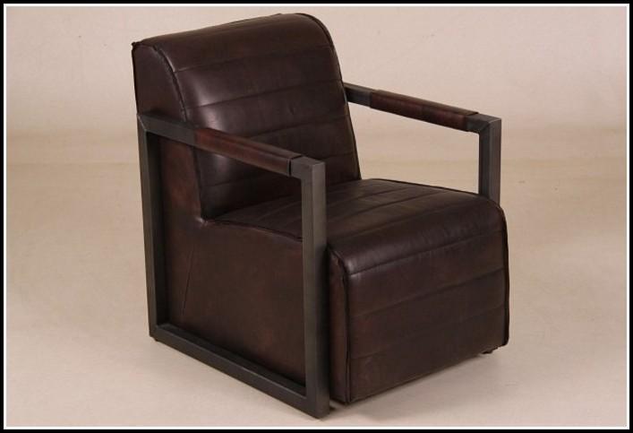 Lounge Sessel Braun Leder