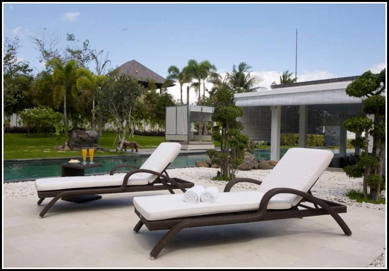 Lounge Sessel Rattan Garten