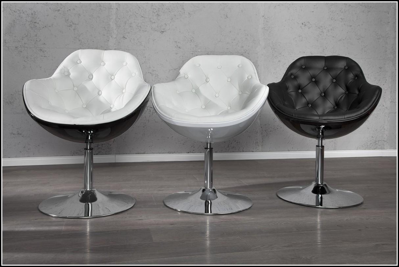 Lounge Sessel Weiss Leder