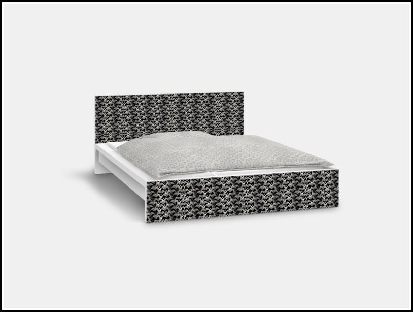 Malm Bett 140×200 Schwarz