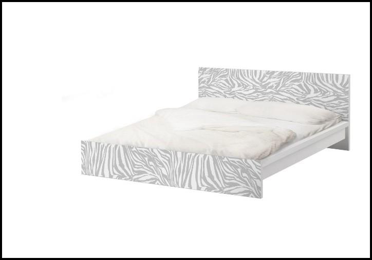Malm Bett Niedrig Weiß