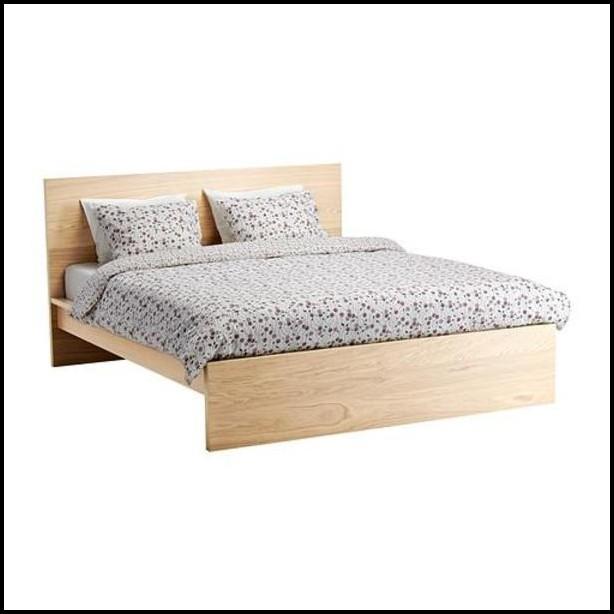 Malm Bett Tisch Schwarz