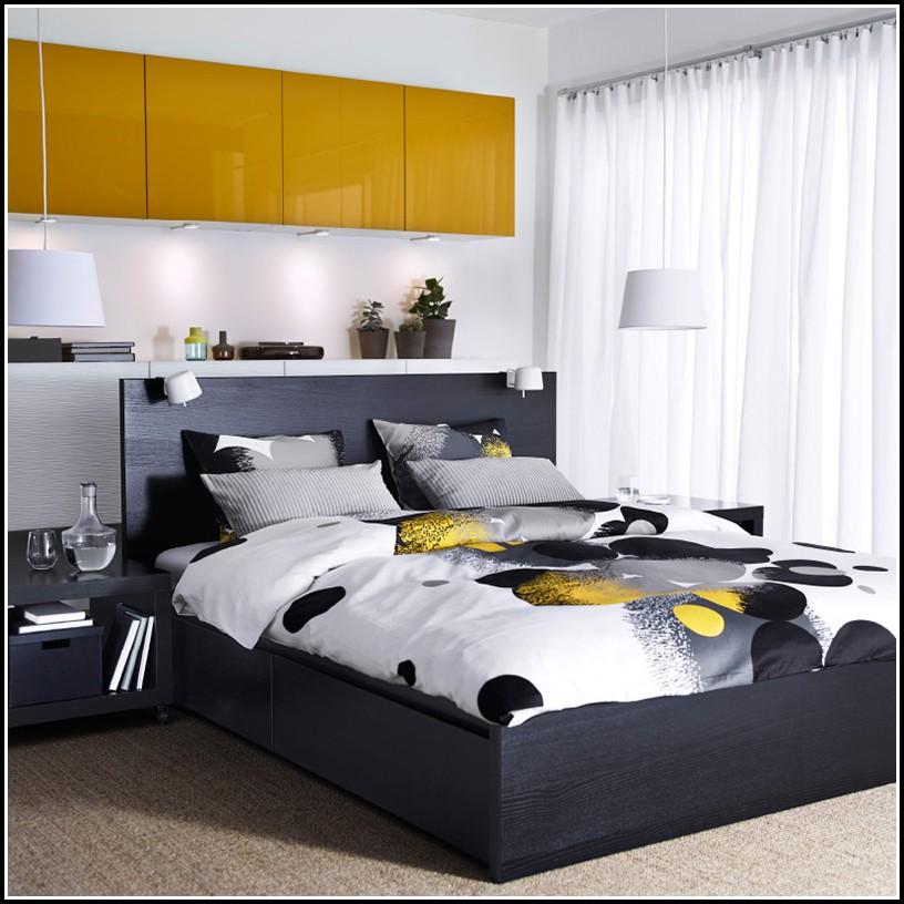 Malm Bett Weiß Hoch