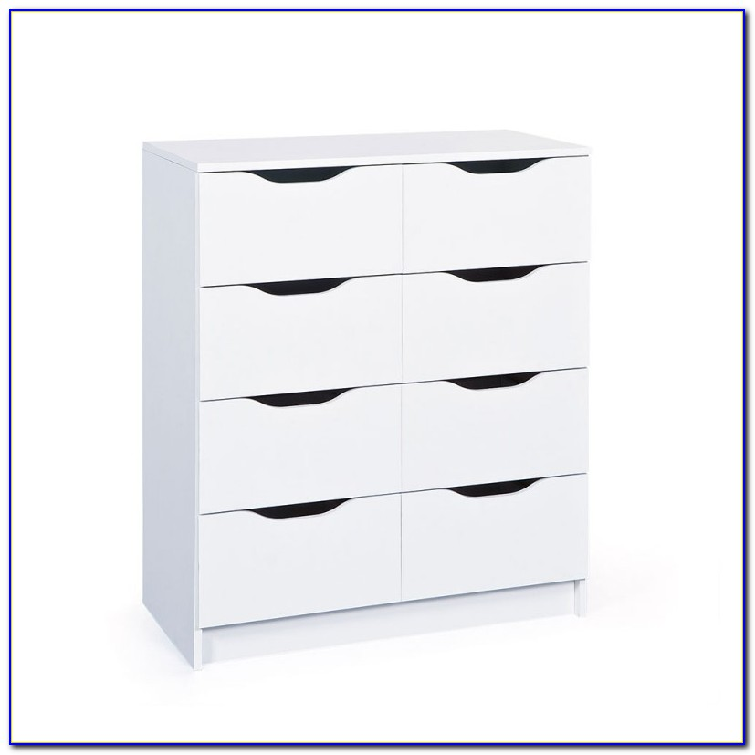 Malm Kommode 6 Schubladen Weiß