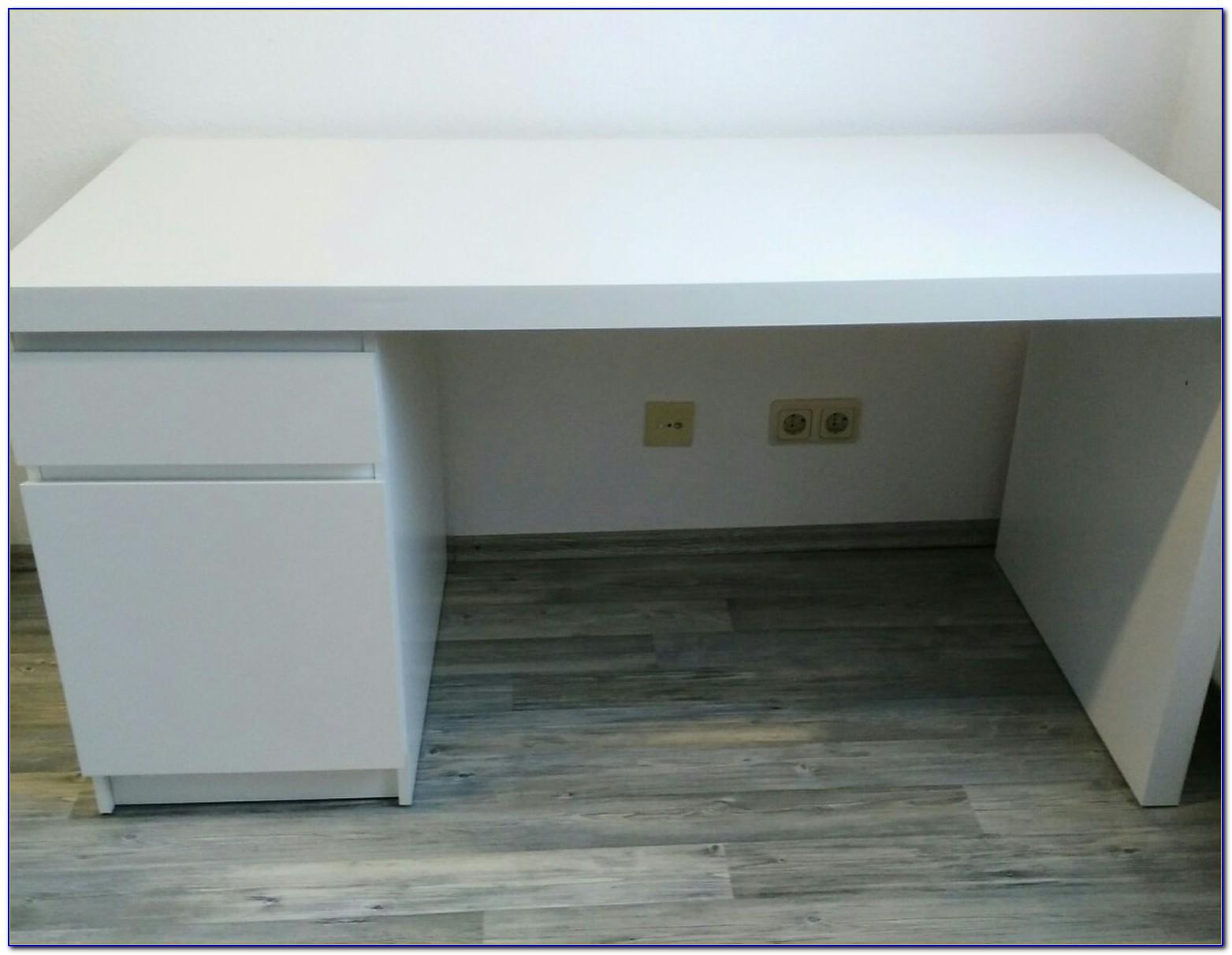 Malm Schreibtisch Mit Ausziehplatte Ikea