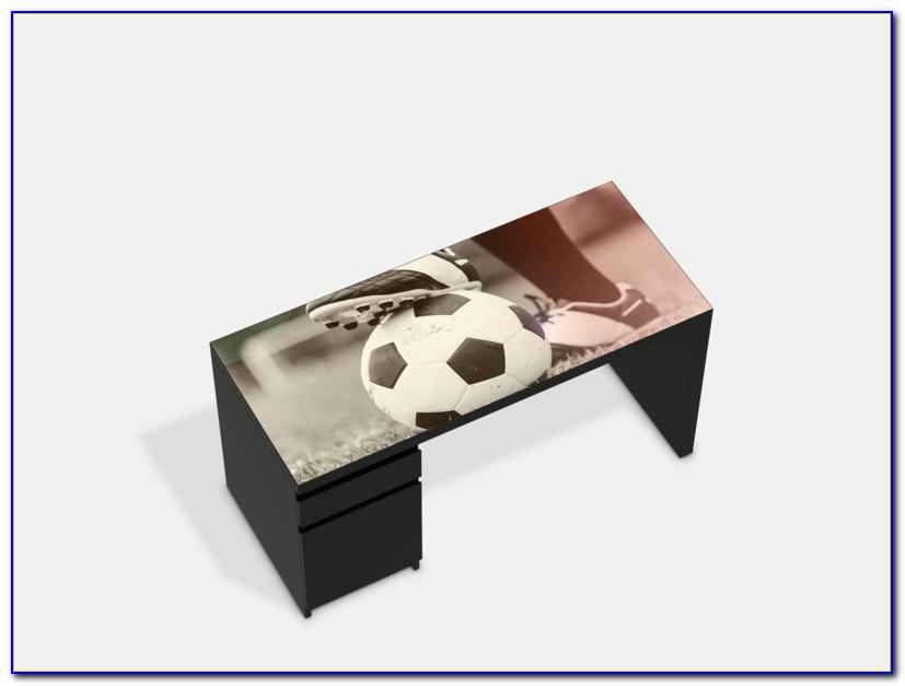 Malm Schreibtisch Schwarz