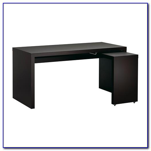Malm Schreibtisch Schwarzbraun