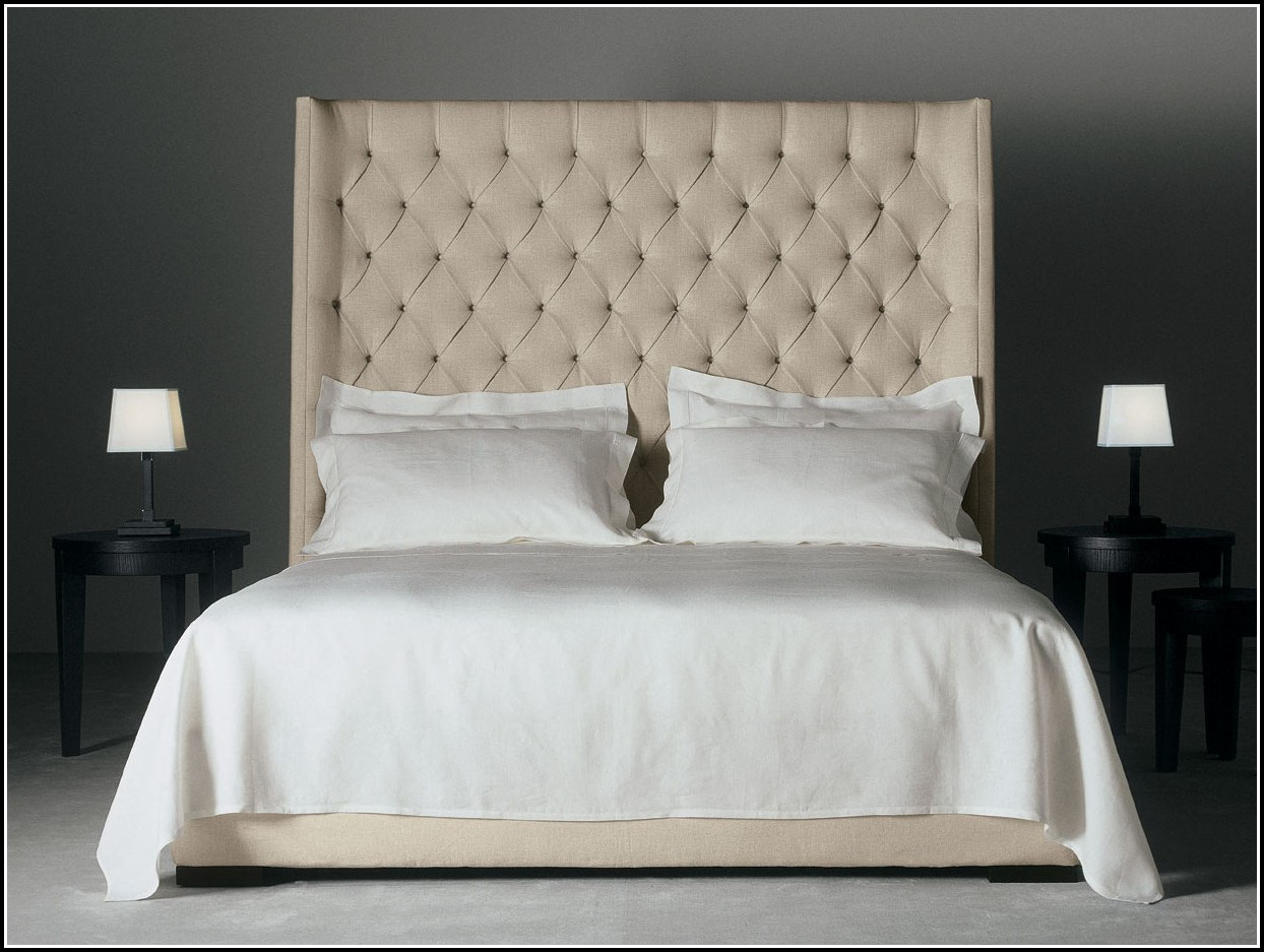 Massivholz Bett Mit Hohem Kopfteil