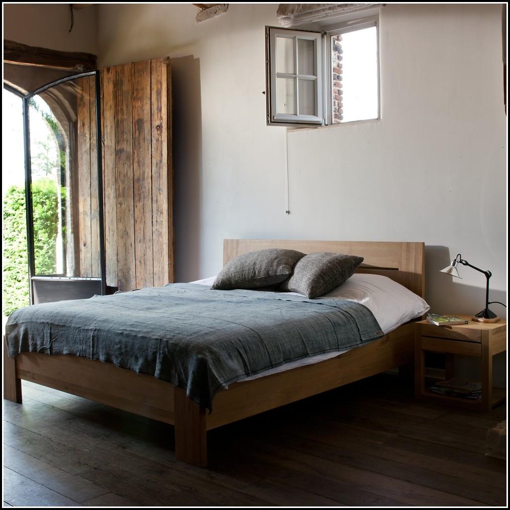 Massivholz Eiche Bett
