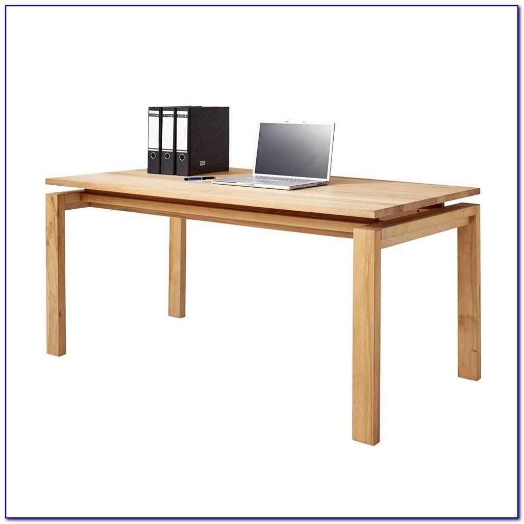 Massivholz Schreibtisch Höhenverstellbar