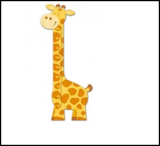 Messlatte Kinderzimmer Holz Giraffe
