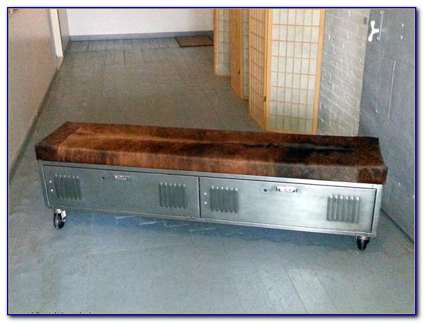 Metal Locker Storage Bench