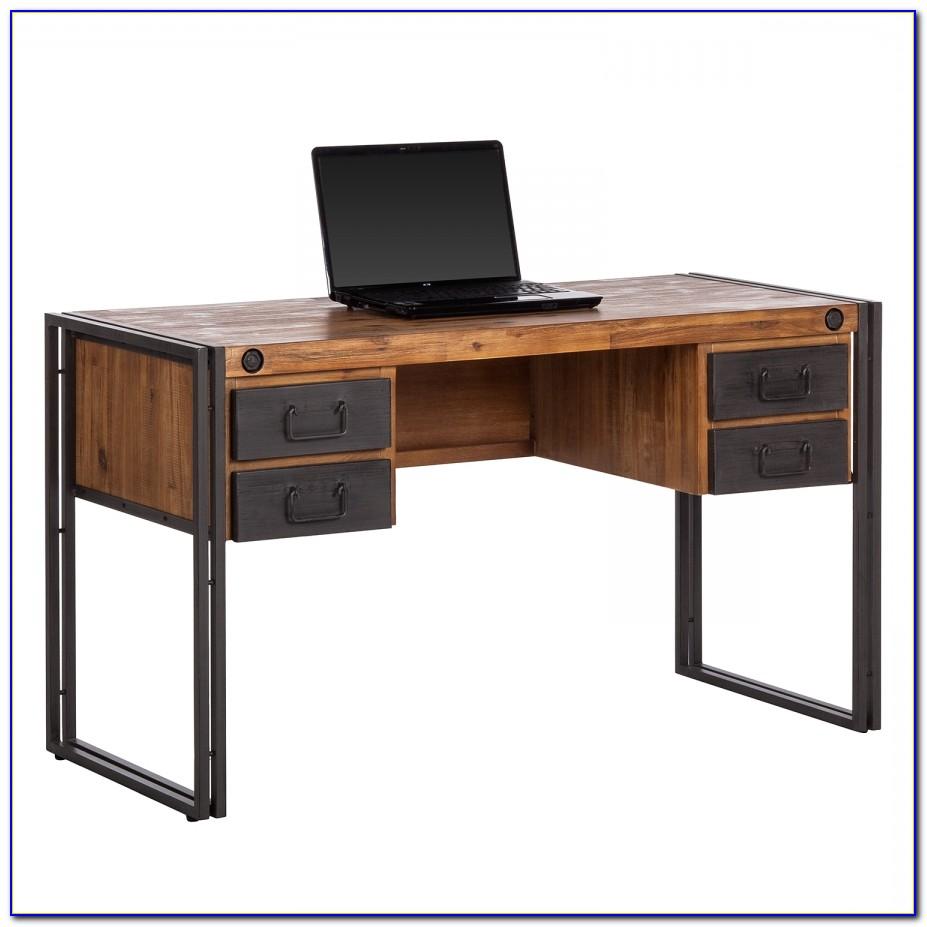 Metall Schreibtisch 70er