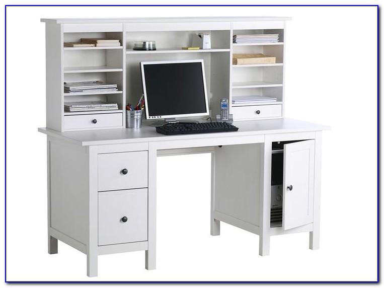 Micke Schreibtisch Schwarzbraun