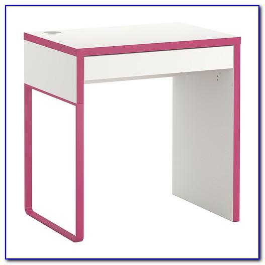 Micke Schreibtisch Weiß Birkenachbildung