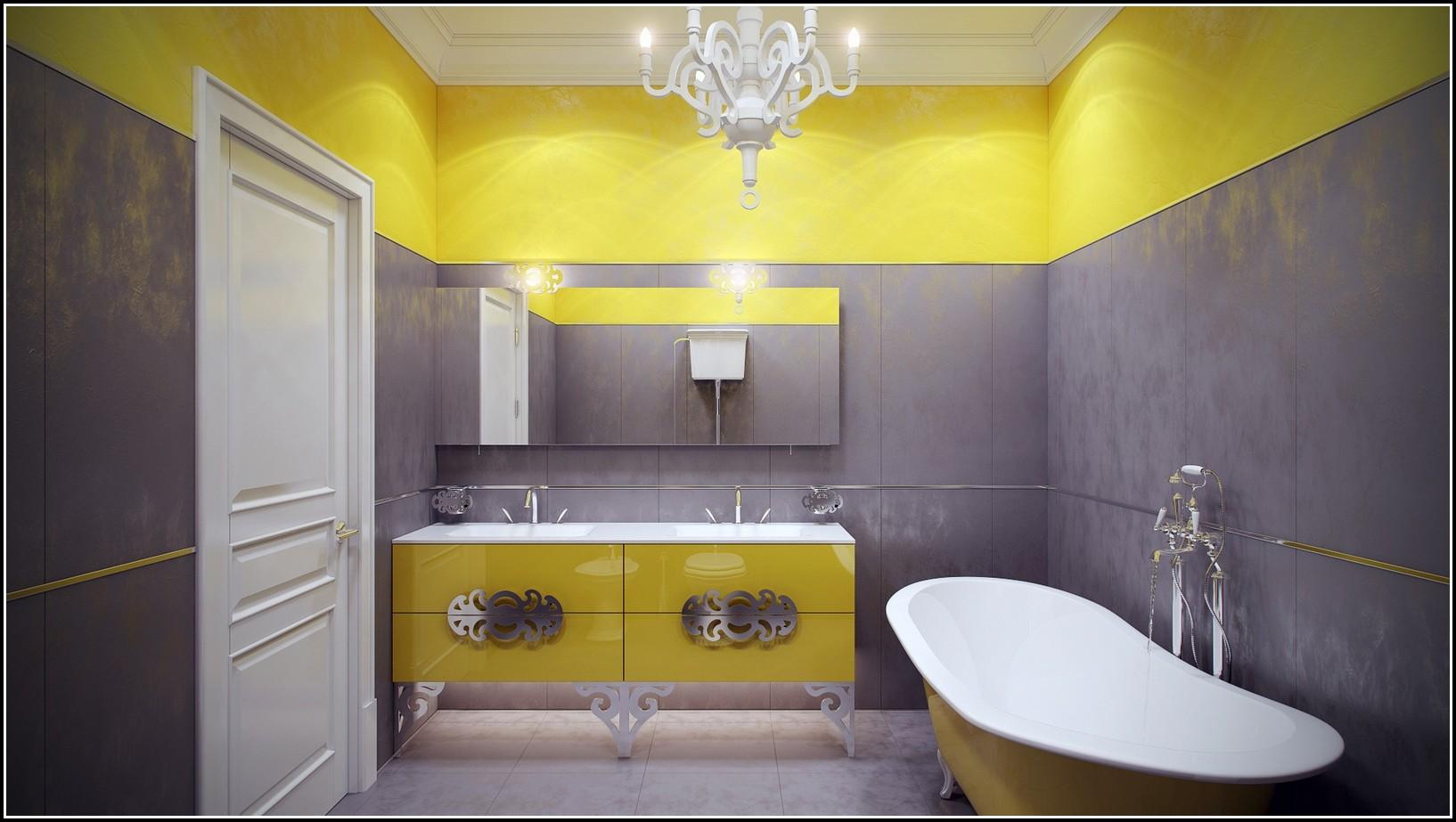Moderne Badezimmer Fliesen Grau