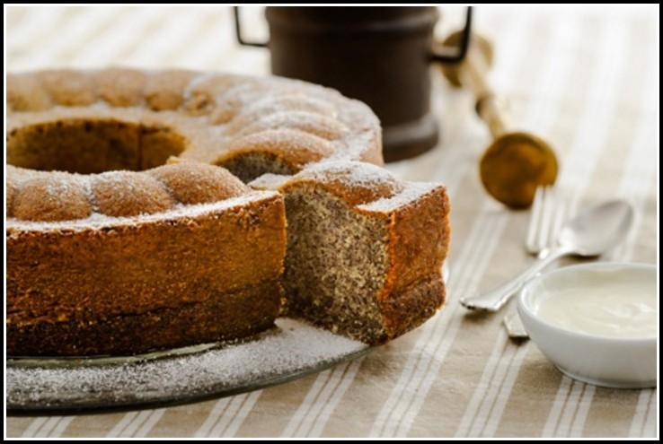Mohn Marzipan Joghurt Kuchen