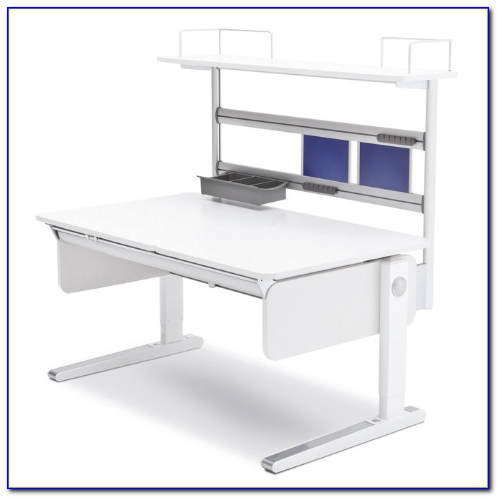 Moll Schreibtisch Champion Left Up Weiß