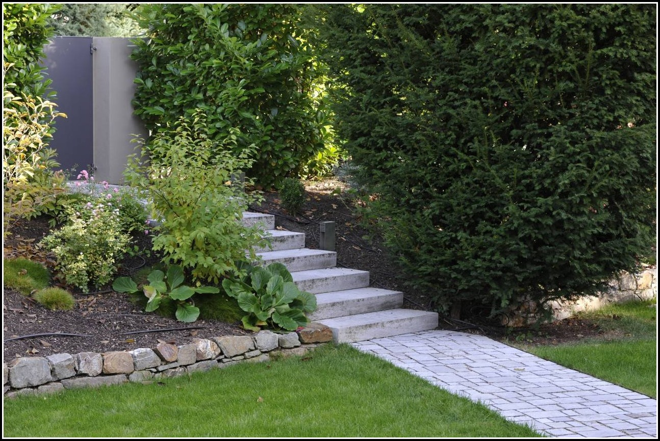 Naturstein Im Garten Treppen Wege