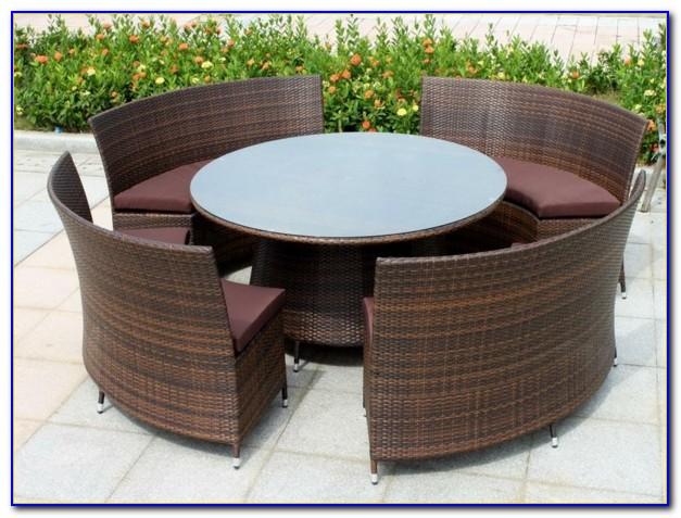 Outdoor Möbel Polyrattan Grau