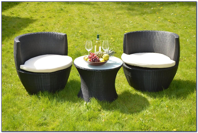 Outdoor Möbel Polyrattan Weiß