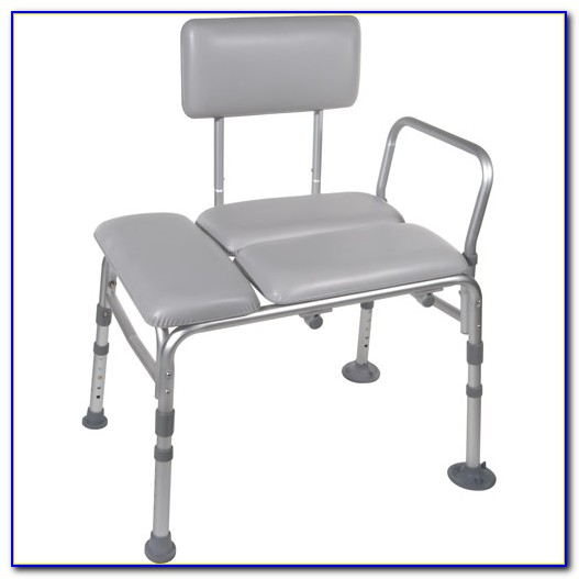 Padded Tub Transfer Bench With Commode