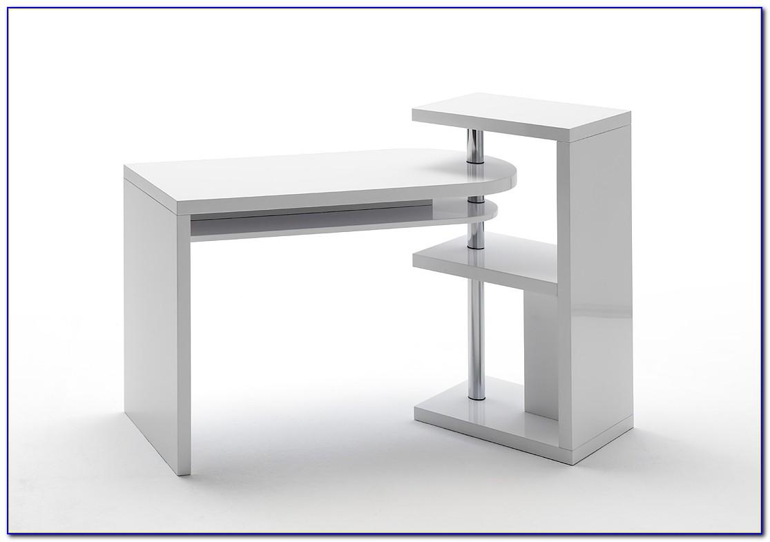 Pc Schreibtisch Weiß Hochglanz