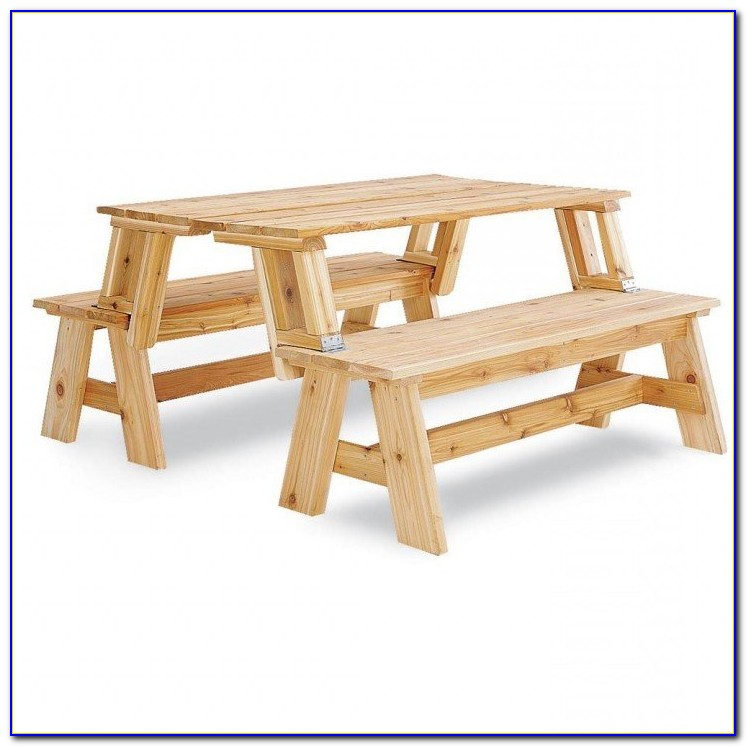 Plastic Bench Convert Picnic Table