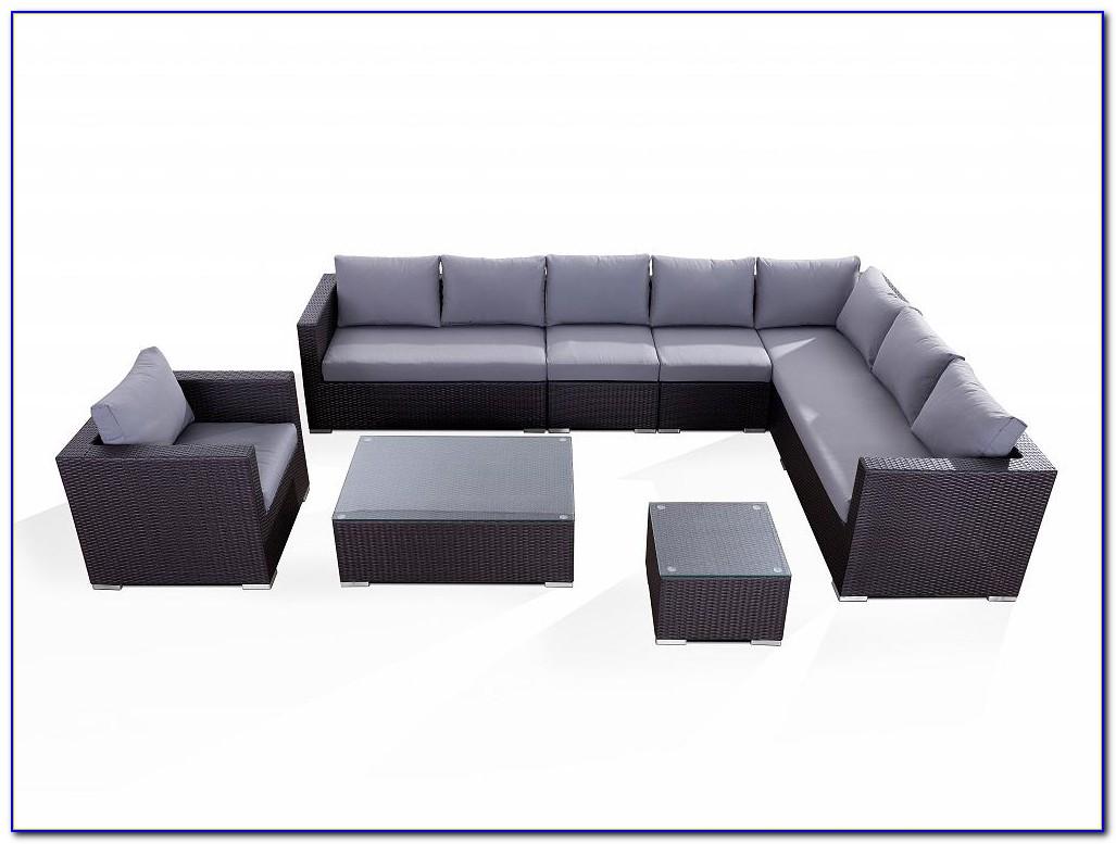 Poly Rattan Gartenmöbel Lounge