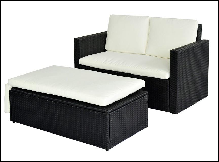 Polyrattan Lounge Sessel Rund