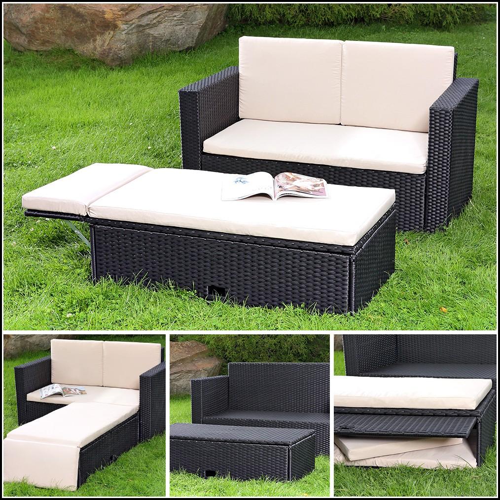 Polyrattan Lounge Sessel Schwarz