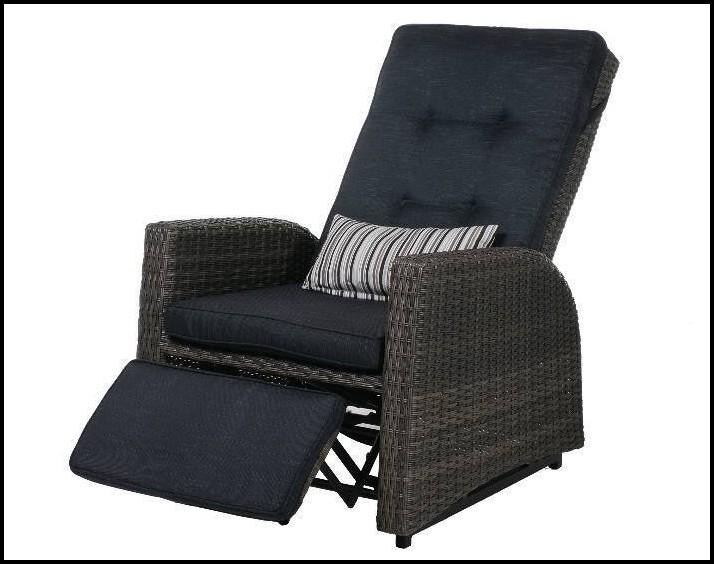 Polyrattan Sessel Schwarz Verstellbar