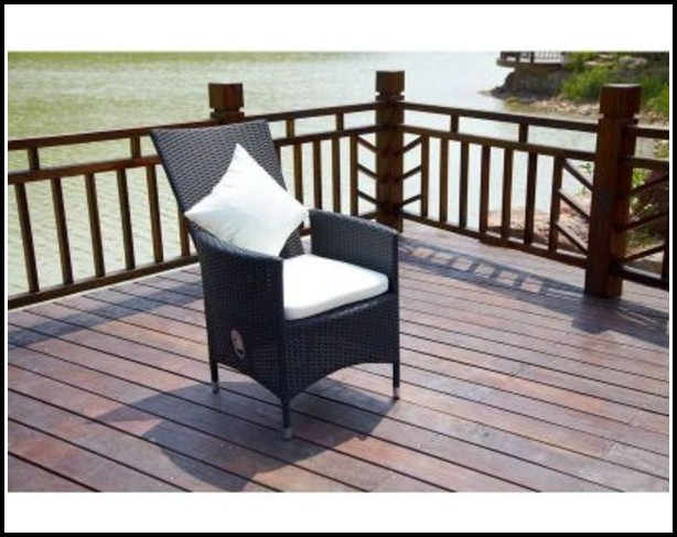 Polyrattan Sessel Verstellbarer Rückenlehne