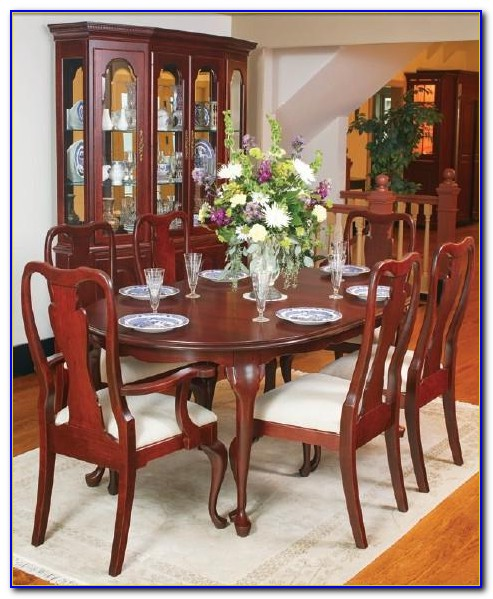 Queen Anne Cherry Dining Room Furniture