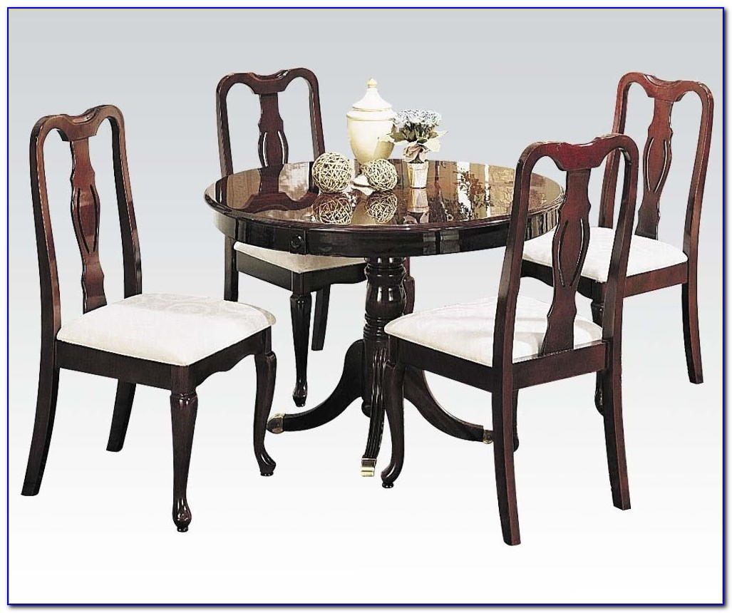 Queen Anne Cherry Wood Dining Room Set