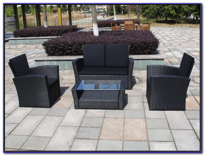 Rattan Gartenmöbel Set Runder Tisch