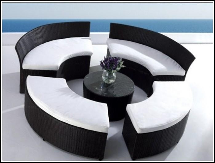 Rattan Lounge Sessel Schwarz