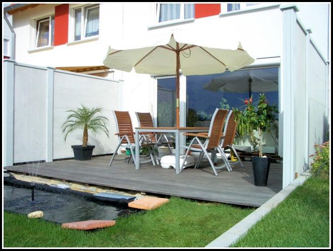 Reihenhaus Sichtschutz Terrasse