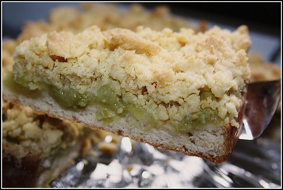 Rhabarber Streusel Kuchen Rezept